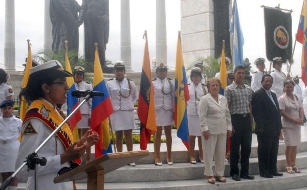 La intervención de Yeremi Ramos, abanderada de la Unidad Educativa Visión.