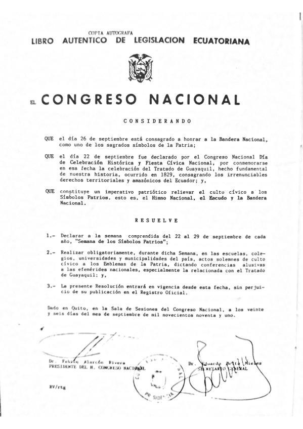 Resolucion-Congreso-Semana-Simbolos-Patrios-Ecuador-26-sep-91